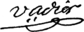 Marc-Guillaume Alexis Vadier signature.png