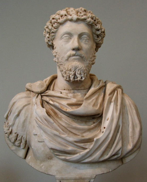 Marble portrait bust of Marcus Aurelius. Roman, Antonine period, 161-180 AD. Metropolitan Museum of Art, New York - Wikipedia