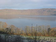 The Laacher See, one of the lakes in the Vulkaneifel