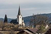 Maria Saal Karnburg Pfarrkirche hll Peter und Paul mit Pfarrhof 02032017 4859.jpg
