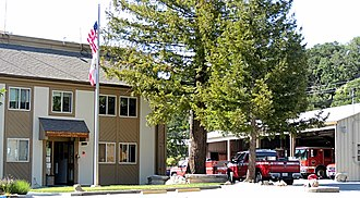 Marin County Fire Department - Department headquarters in Woodacre