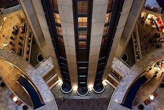 Atlanta Marriott Marquis - Image: Marriott Marquis rear down