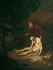 Die heiligen Eremiten Antonius und Paulus