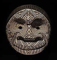 Mask used on folk ritual Kamentsa on Chaquiras indigenous people of Colombia.jpg