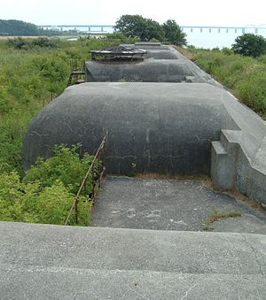 Masnedø - remains of gun emplacements protecting entrance to Storstrømmen