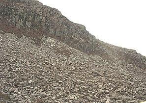 Massive screes near the summit of Bwlch Llanberis pass - geograph.org.uk - 555768.jpg