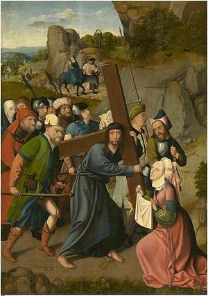 Master of Hoogstraeten - The Bearing of the Cross