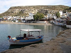 Matala, Crete - Southern part of the beach