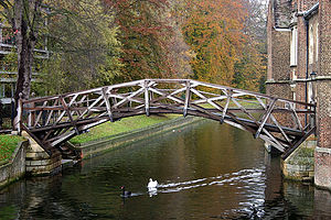 Old Walton Bridge - Etheridge's Mathematical Bridge in Cambridge.
