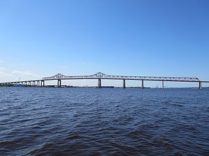 Mathews Bridge - Image: Mathews Bridge from the Saint Johns River