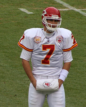 English: Matt Cassel, a player on the Kansas C...