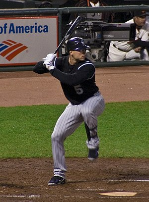 Matt Holliday of the Colorado Rockies hits aga...