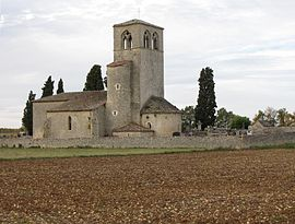 The church of Cabanac, in Mauroux