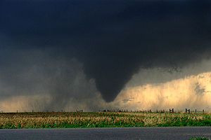 Tornado outbreak sequence of May 22–31, 2008 - EF1 tornado that struck WaKeeney, Kansas on May 22, 2008.