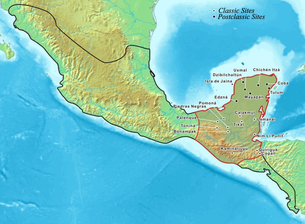 Maya World Map.Vaizdas Mayamap Png Vikipedija