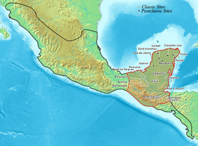 The extent of the Mayan civilization.