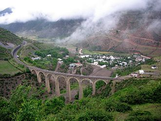 Islamic Republic of Iran Railways - A railway bridge at Do Ab, Mazanderan Province on the Gorgan — Bandar Shah line, 2007