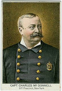 Charles McDonnell (police officer) NYPD police captain responsible for the capture of a number of high-profile criminals, most notably, procuress Jane the Grabber in 1875.