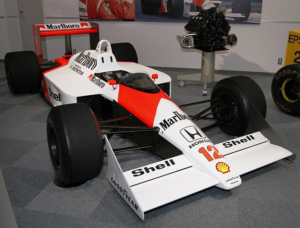 McLaren MP4-4 front-right Honda Collection Hall