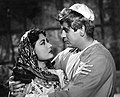 Meena Kumari with Dilip Kumar in Yahudi.jpg