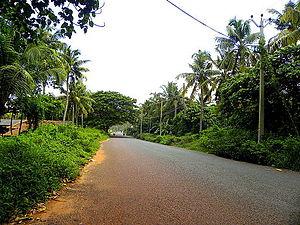 Meenad - Paravur-Chathannoor road at Meenad