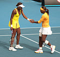 Melbourne Australian Open 2010 Venus and Serena Hands (cropped).jpg