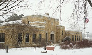 Mequon, Wisconsin - Mequon City Hall, listed on the National Register of Historic Places