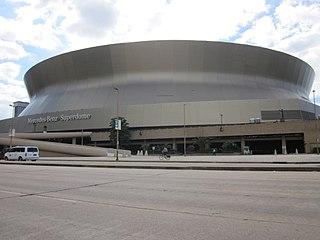 Mercedes-Benz Superdome Stadium in Louisiana, United States