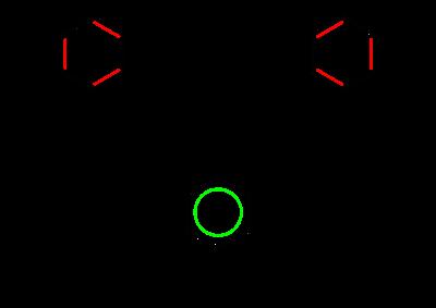 Rappresentazione degli ibridi di risonanza (sopra) e della struttura del benzene con anello delocalizzato (sotto).