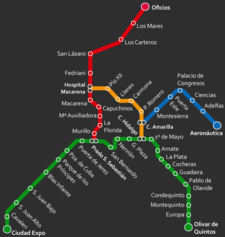 Seville Subway Map.Seville Metro Wikipedia