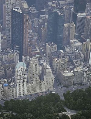 Metropolitan Tower (Manhattan) - The Metropolitan and Carnegie Hall Towers, upper-left corner