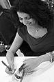 Michelle Jean Baptiste au Salon du Livre de Paris 2015.JPG