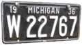 Michigan 1936 license plate.png