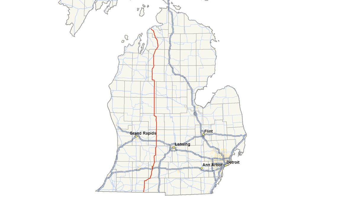 M Michigan Highway Wikipedia - Micigan map