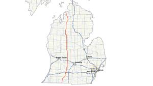 M-66 (Michigan highway) - Image: Michigan 66 map