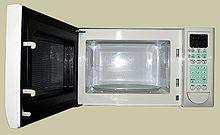 Un tipico forno a microonde domestico