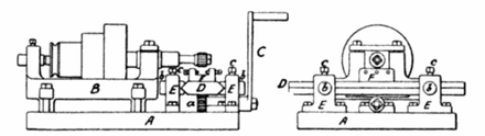 The Middletown milling machine of c. 1818, associated with Robert Johnson and Simeon North Middletown milling machine 1818--001.png