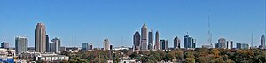 English: Midtown Atlanta viewed from the North...