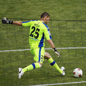 Miguel Ángel Moyà - Moyà taking a free kick for Getafe in 2012