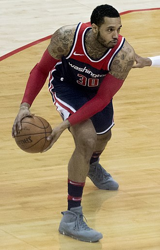Mike Scott (basketball) - Scott with the Wizards in February 2018