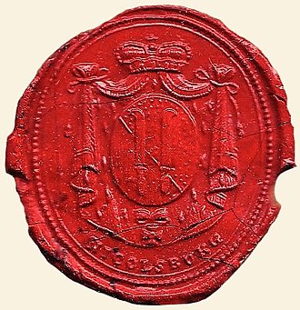 Mikulov - City Mikulov (Nicolsburg) official Seal, 1810