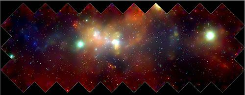 X-ray mosaic image of Milky Way taken by Chandra X-ray Observatory