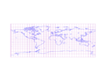 Miller cylindrical projection of world with grid.png
