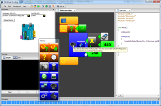 Minibloq - Image: Minibloq 0.8 beta