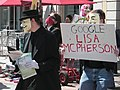 Minneapolis April 2009 protest against Scientology sign 01.jpg