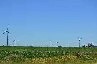 Minonk Township, Woodford County, Illinois - Wind farm along Illinois Route 116