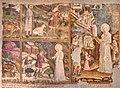 Miracolo dei tre pani, e l'Apparizione della Madonna dell'ulivo (M.della Dormitio Virginis, affresco del XV secolo, Terni, Chiesa di Santa Maria del Monumento).jpg