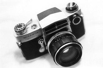 Miranda Camera Company - Miranda Sensorex which featured interchangeable prisms