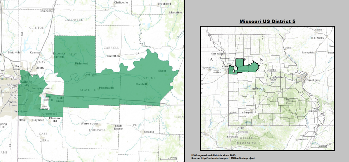 Missouris Th Congressional District Wikipedia - Missouri us congressional district map
