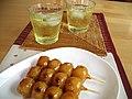 Mitarashi dango and ice green tea.jpg